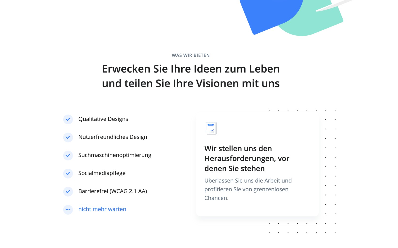 Ipad (Horizontal) mit responsivem Design